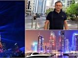 Вячеслав Люсик  из Арабских Эмиратов - с новогодним приветом и грандиозным лазерным шоу